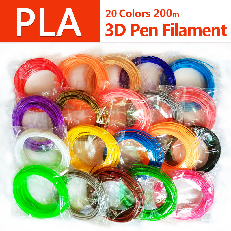 No pollution pla 1 75mm 20 colors 3d pen filament pla filament 3d pen pla plastic