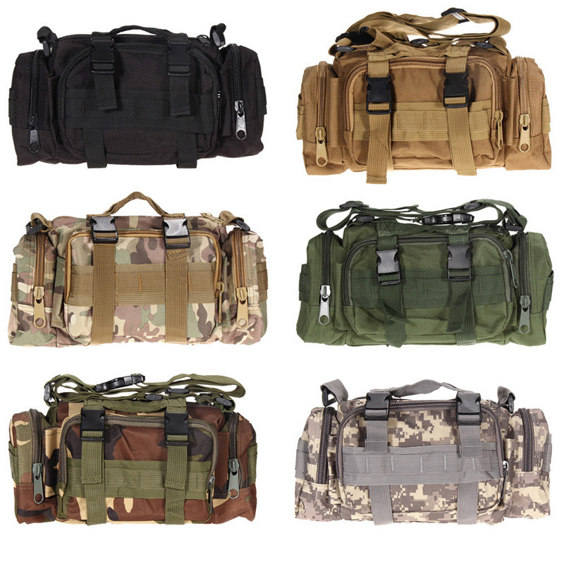Bolsa de cintura táctica militar al aire libre impermeable Nylon Camping senderismo mochila bolsa de mano bolsa militar estilo mochila