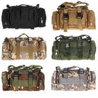 Bolso de cintura táctico militar al aire libre de nailon impermeable Camping senderismo mochila bolsa de mano militar bolsa de mano
