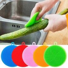 BXLYY силикагель обеззараживание щетка для мытья посуды кухонная Чистящая прокладка для чистки фруктов и овощей изоляция для кухни Pad.7z