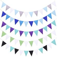 12 flagi wiszące banery filcowe tkaniny Garland Wall wiszące chorągiewki flagi proporczyk na Baby Shower ślubna dekoracja urodzinowa tanie tanio YONGSNOW zy216-9 Felt cloth Ślub i Zaręczyny Chrzest chrzciny Płeć Reveal Party Walentynki Rocznica Birthday party