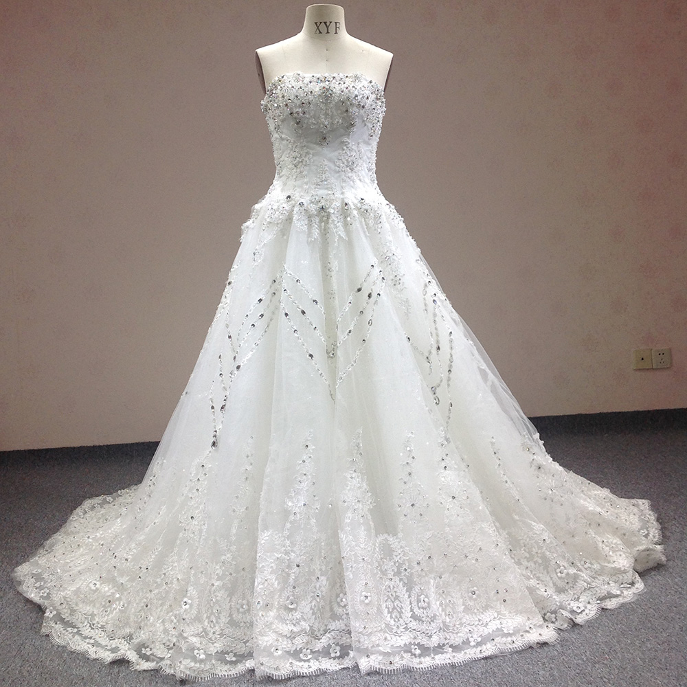 Compare Prices on Strapless Bling Wedding Dress- Online Shopping ...