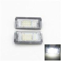 2PCS White 18 LED Error Free SMD License Plate Light For BMW E46 4D 5D Sedan