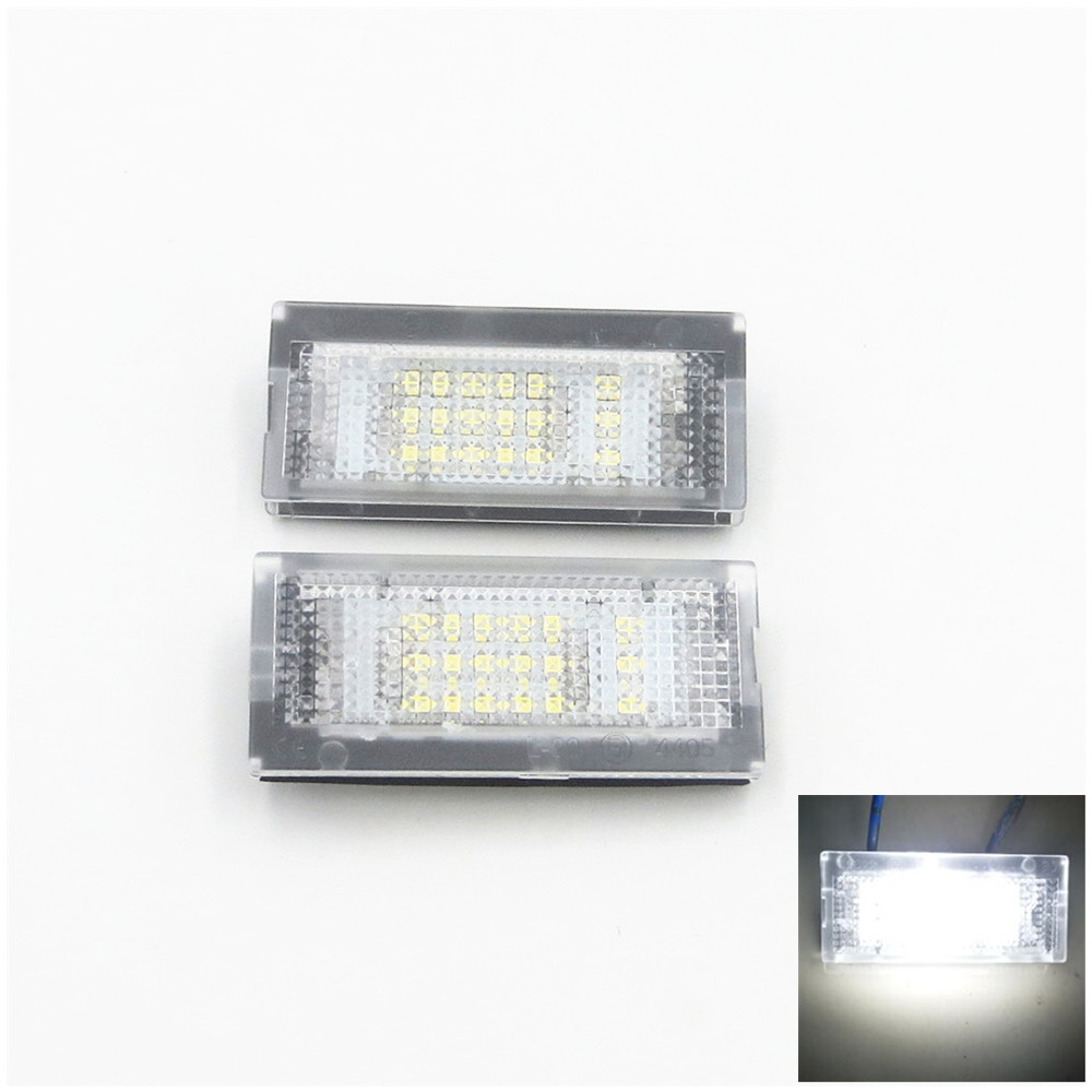 XYIVYG 2PCS White 18 LED Error Free SMD License Plate Light For BMW E46 4D 5D Sedan 1998-2005 hot 2pcs error free 3528 smd 18 led car led license number plate light lamp white for bmw e46 4d sedan 5d wagon 12v