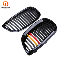 POSSBAY Germany Flag Stripe Design Gloss Black M Front Kindly Grille For BMW 3 Series E92 Coupe M3 2007/2008/2009/2010/2011 2013