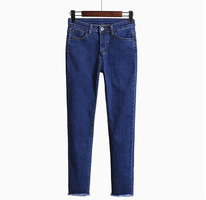 2016 New Spring Ms. Elastic Waist Jeans Female Significantly Thin Feet Pencil Pants Female Trousers Slim Trousers