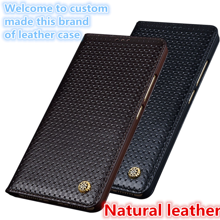 LS02 Magnetic Real Leather Flip Case For font b Samsung b font Galaxy Note 9 Phone