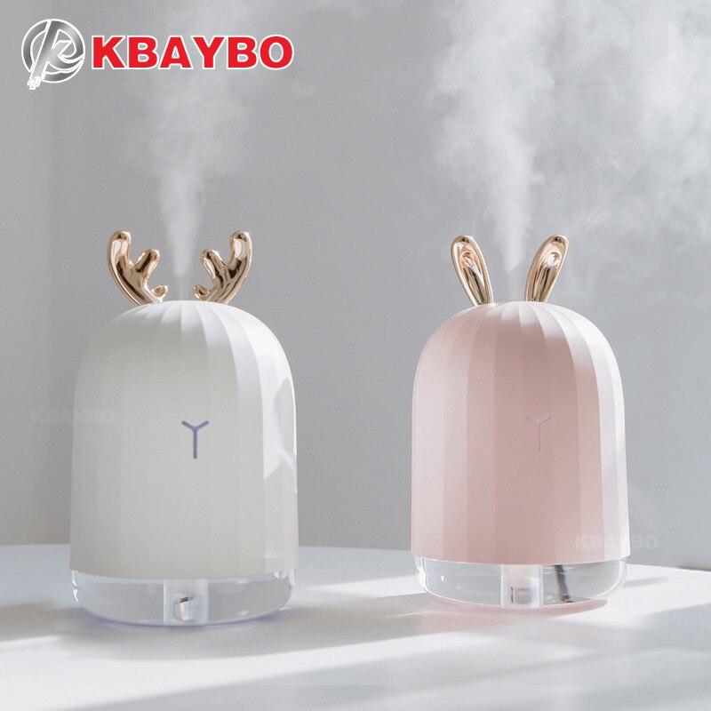 KBAYBO 220 ml USB Aroma Ätherisches Öl Diffusor Ultraschall-luftbefeuchter mit 7 LED Farbe Ändern Nacht licht Kühlen Nebel für hause