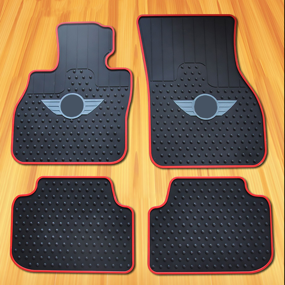 Car Rubber Floor Mat Carpet Cargo Pad Decor For Mini Cooper One d Countryman F54 F55