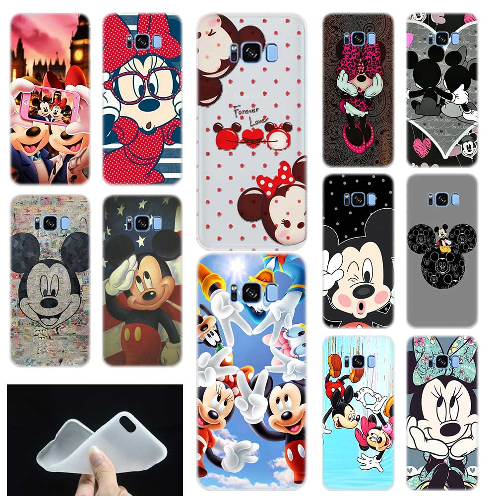 Mickey Minnie Mouse Soft TPU Silicone Phone Back Case Cover For Samsung Galaxy S6 S7 Edge S8 S9 Plus S10 E Note 8 9