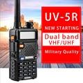 Baofeng UV-5R Ham radio Dual Band Radio 136-174Mhz & 400-520Mhz Walkie Talkie 5W Two Way Radio Station Car CB Radio uv5r (black)
