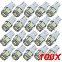 TOYL 100PCS T10 White 168 194 501 W5W 5 SMD LED Car Side Wedge Light Lamp