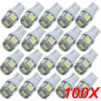 TOYL 100PCS T10 White 168 194 501 W5W 5 SMD LED Car Side Wedge Light Lamp