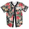 Men's shirts FACTS Jersey FLOWERS 3d print Streetwear PUNK tops with Single Breasted summer baseball shirt