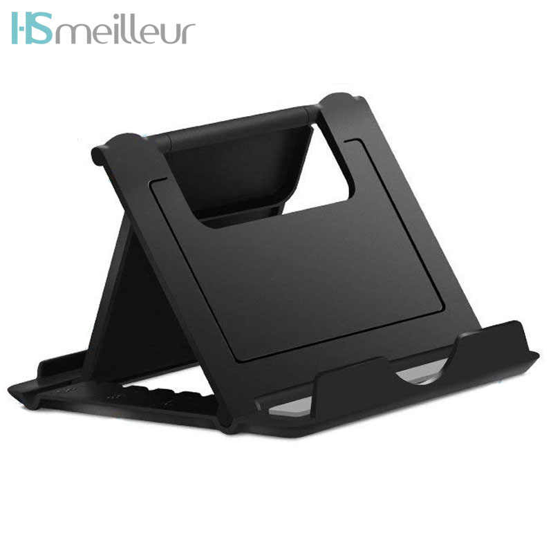 Hsmeilleur Universal Desktop Phone Holder For iPhone XS Max xr 8Plus Samsung Note 9 iPad Tablet Portable Cellphone Stand Support
