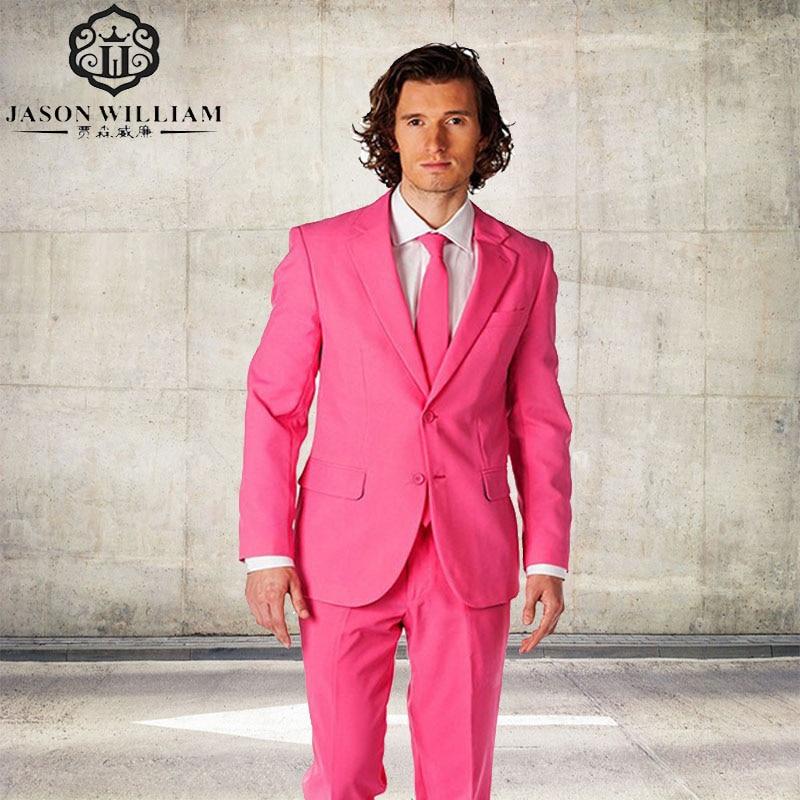 Ln105 nueva llegada groomsmen Notch lapel novio Esmoquin Rosa ...