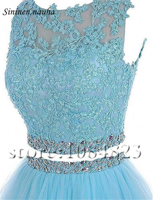 placeholder 2 Piece Short Prom Party Dress Homecoming Dresses Juniors A Line  Tulle Appliques Beaded Plus Size 4ef88d8eb7db