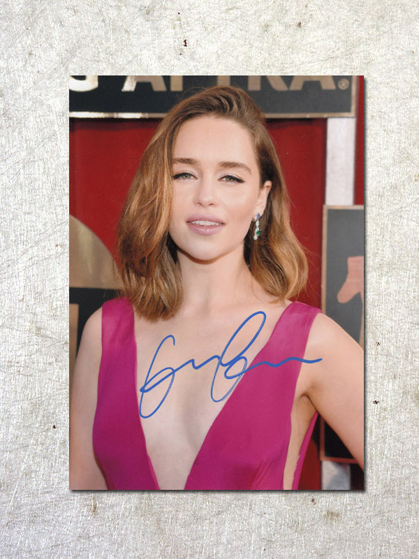 signed Emilia Clarke Game of Thrones autographed original photo 7 inches free shipping  092017C signed kobe bryant autographed original photo 7 inches free shipping 08201709