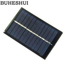 BUHESHUI Solar Panels 6v 0.6W Mini Solar Cell For Small Power Appliances Education 90x60MM Epoxy 10pcs/lotshipping Free shipping
