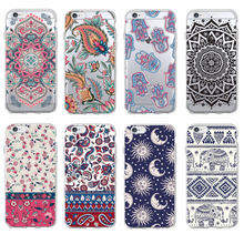 Boho Indian Floral Lotus Elephant Paisley Tribal Soft Phone Case Coque Fundas For iPhone 7 7Plus 6 6S 8 8PLUS X XS Max SAMSUNG(China)