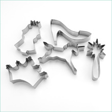 5pcs/set Metal Stainless Steel of Princess Series imperial crown Unicorn Cookie Cutters Fondant Biscuits Tools