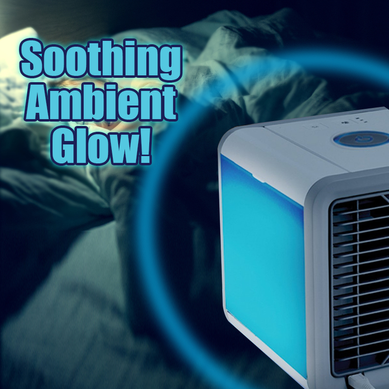2018 Air Cooler Fan Air Personal Space Cooler Portable Mini Air Conditioner Device cool soothing wind for Home room Office Desk 1
