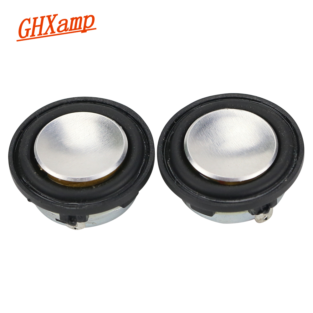 GHXAMP 1 INCH 4Ohm 2W Mini Speaker 28mm PU side Full Range Sound Midrange bass MP3 Bluetooth Speaker Round 1 Pairs h 019 fountek fr88ex full range 3 inch hifi speaker amplifier speaker hot sale 84 3db 1w 1m