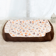 Warm Corduroy Padded Dog Bed for Large Dogs