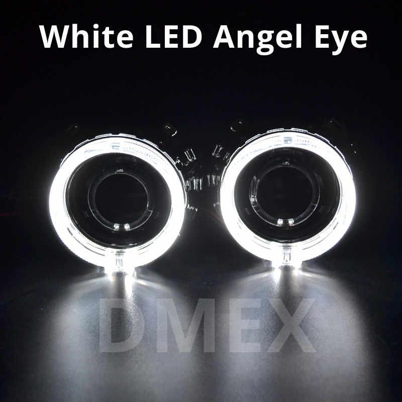 DMEX-lentille de projecteur HID | Voiture, style 2 pièces, Mini lentille de phare projecteur HID Bixenon H1, adaptée à H4 H7 maison de phares