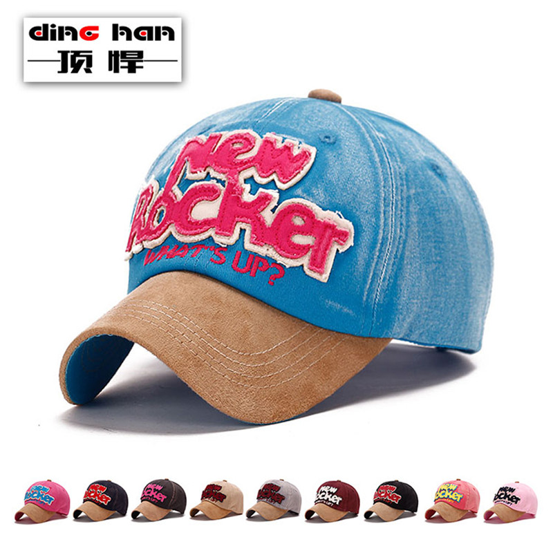 new style baseball hats vintage caps spring font hat letter pattern cap brim deerskin distressed