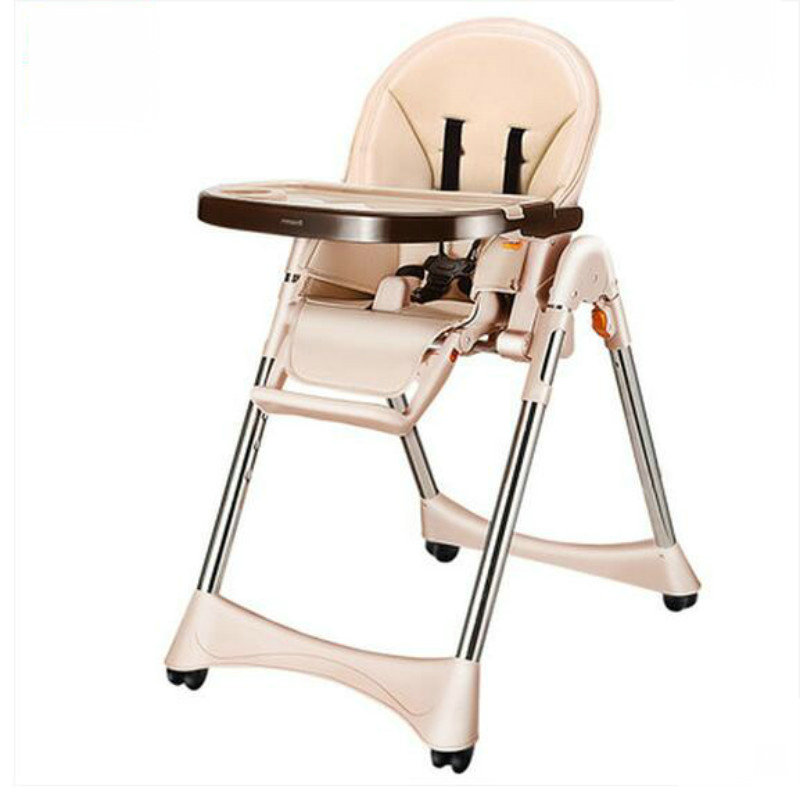 Multi Function Portable Baby Dining Chair Foldable Baby Feed Chair With Stainless Steel Material
