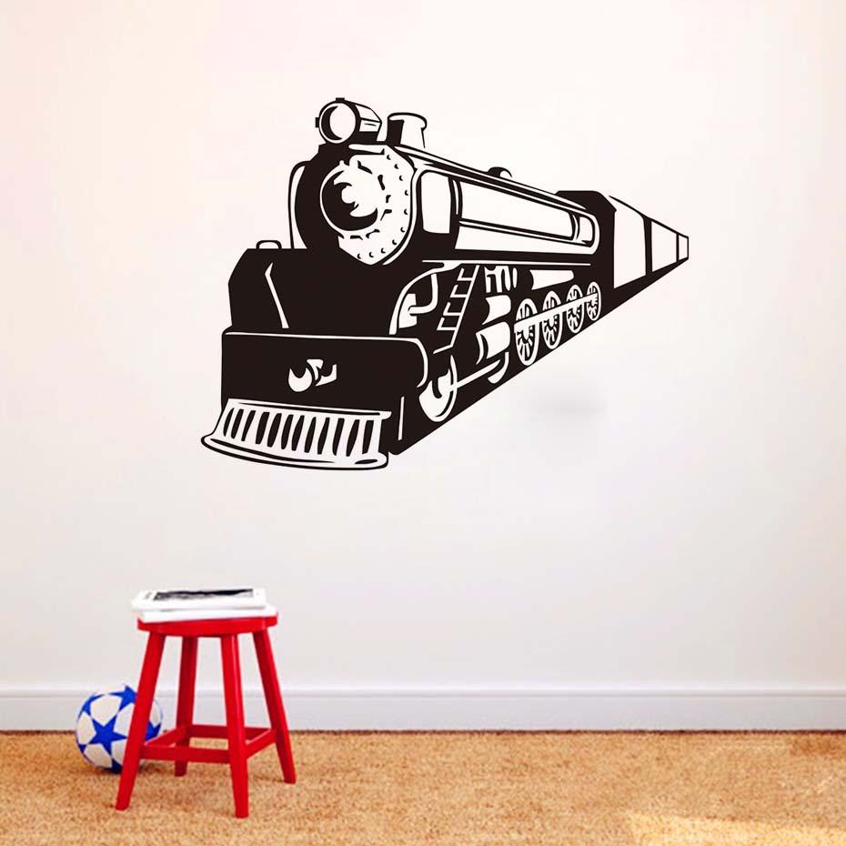 Train Apache Vinyl Wall Art Retro Train Guard Wall Cartoon Wall Decal Cool Fashion Mural Sticker