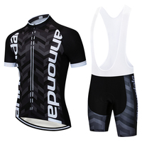 2018 Black green Newest Cycling Clothing Bike Jersey Quick Dry Mens Bicycles Clothes Team T Shirts Cycling Gel Bike Shorts Set
