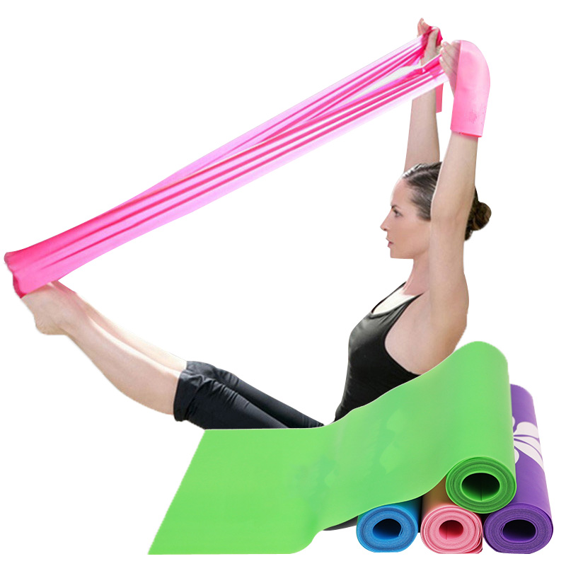 1.5m/1.8m Resistance Bands Latex Free Home Gym Fitness Equipment For Physical Therapy,Pilates,Stretch,Yoga,Strength Training deweyer yoga rally belt men ladies fitness stretch stretch force strength striped grass green 18 lbs