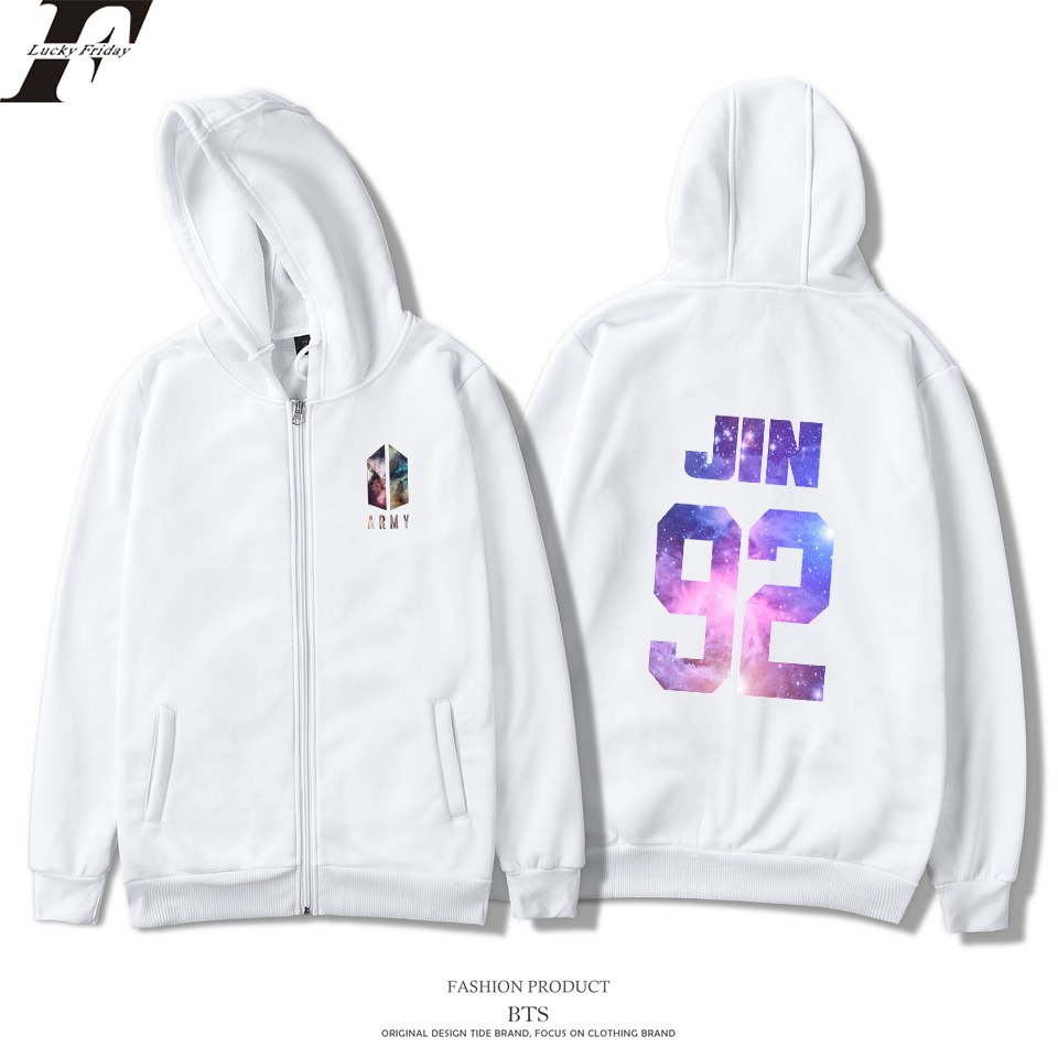2018 BTS ARMY Kpop Love Yourself oversized Hoodies sweatshirts Women men Zipper moletom Harajuku Streetwear tracksuit Plus Size
