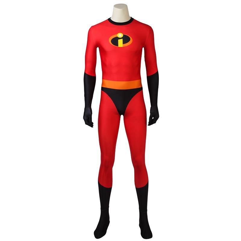 Incredibles 2 Cosplay Bob Parr Jumpsuit Cosplay Costume Mr. Incredible Zentai Costume 3D Printed Bodysuit