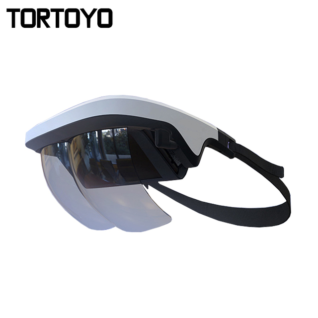 0e8da6ce255c5 TORTOYO 2018 Novo Óculos de Realidade Aumentada AR 90 Graus de Realidade  Virtual 3D Capacete Dispositivo