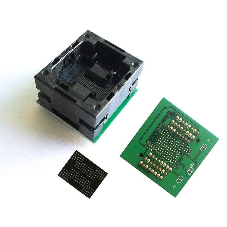 BGA152 / 132 turn TSOP48 flash programming test burning socket SSD Pitch 1.0mm  IC Size: BGA132 (12X18mm), BGA152 (14x18mm)BGA152 / 132 turn TSOP48 flash programming test burning socket SSD Pitch 1.0mm  IC Size: BGA132 (12X18mm), BGA152 (14x18mm)