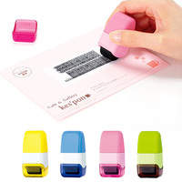 Identity Theft Protection Stamp Seal Roller Self Inking Stock Stamp Guard Your ID Confidentiality Code Confidential