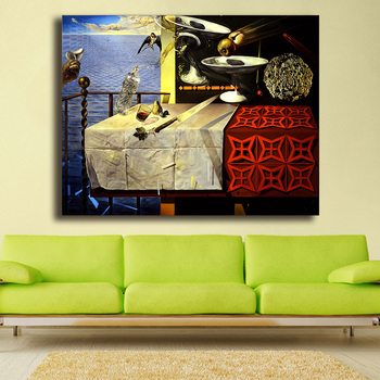 Salvador Dali Still Life-Fast Moving Canvas Painting For Living Room Home Decoration Oil Painting On Canvas Wall Painting 2