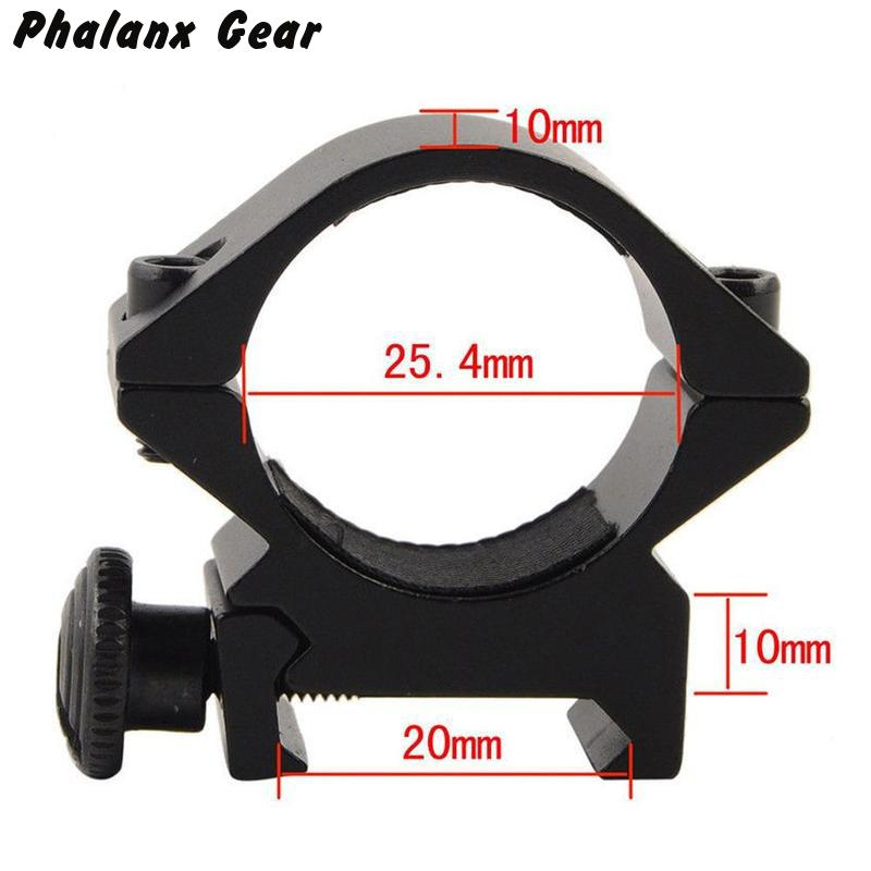 Image 4 - Tactische Vat 25.4mm/30mm Lage QD Scope Zaklamp Laser Sight Zaklamp Ring Mount 20mm RIS Rail airsoft Hunting Rifle  Scope-in Scope Mounts & Accessories from Sports & Entertainment