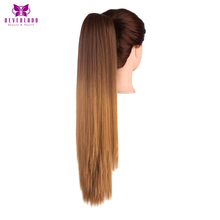 Neverland 50cm 8#/27# Two Tone Straight Claw Ponytail High Temperature Fiber Hair Extensions Synthetic Fake Hair Tail for Women