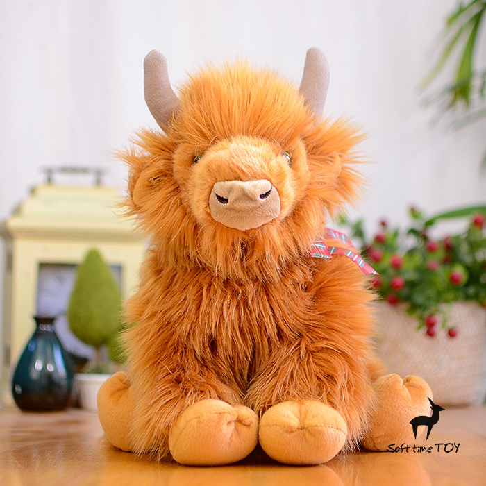 ФОТО Simulation  Yak Doll  Children'S Educational Toys  Gifts Big Plush Toy  Scottish Highland Cattle