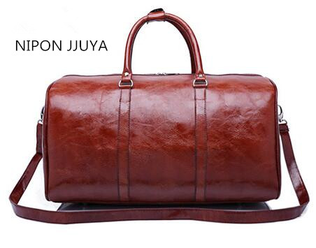 Hot selling 2017 NIPON JJUYA new fashion traveling bags genuine leather keepall 55cm bag free shipping