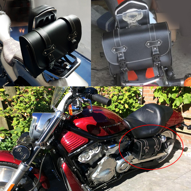 Motorcycle Saddle Bags For Harley Sportster XL 883 XL 1200 Pu Leather Side Tool Bag Luggage Black and Brown XL883 XL1200