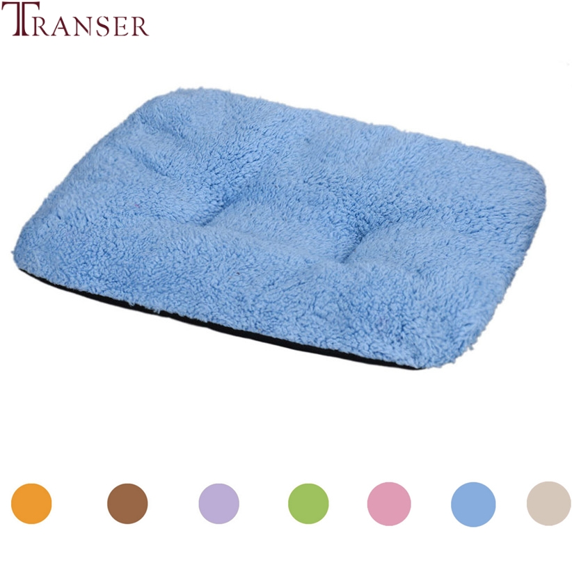 Transer Dog Bed Warm Soft Plush Pet Dog Blanket Mat Sleeping Bed Cushion For Small Dogs Cat 80130