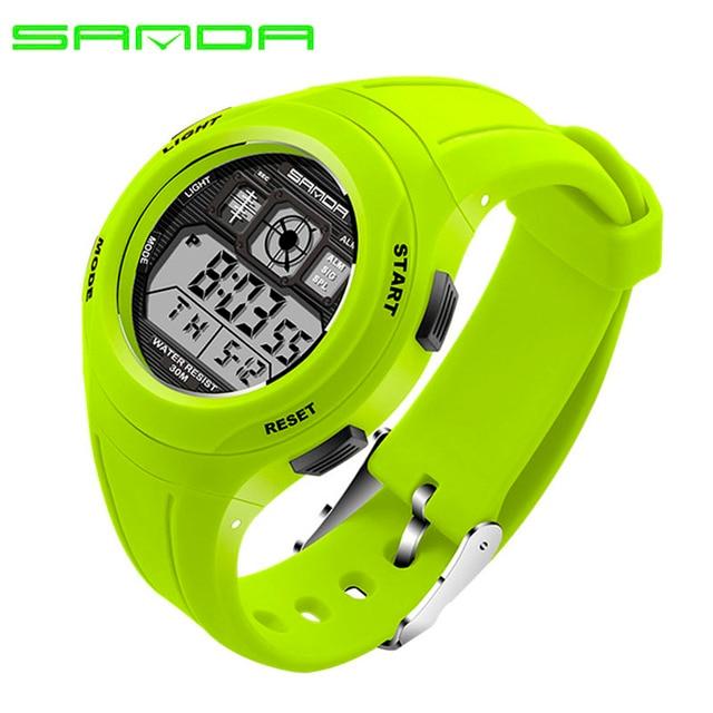 SANDA 331 Children Watches LED Digital Multifunctional Waterproof Wristwatches O