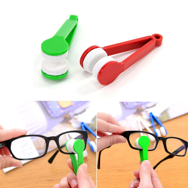 F Random Glasses dedicated Convenience Cleaner Super Fine Fiber Super Clean Power Portable Glasses Rub With Key Ring Cleaner