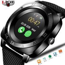 LIGE 2019 New Men Smart Watch Sport Pedometer Electronic Clock Bluetooth Connection Big screen SIM Health + box