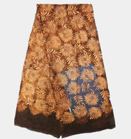 High Grade Wedding Dress Material In Brown Embroidery African Tulle Fabric French Net Lace Material For
